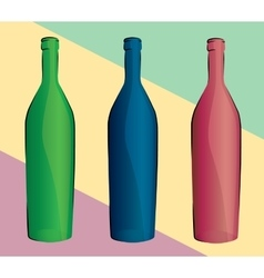 Set of bottles vector