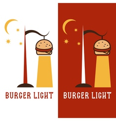 Burger in form of lantern design template vector