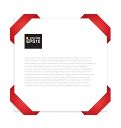 Blank paper with red origami frame EPS10 vector image vector image