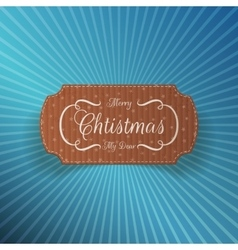 Christmas realistic cardboard label vector
