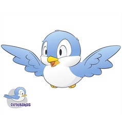 Cute Cartoon Bird vector image vector image