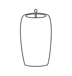Decorative candle isolated vector