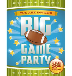 Football Game Invitation Flyer vector image vector image