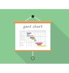 Gant chart project management vector