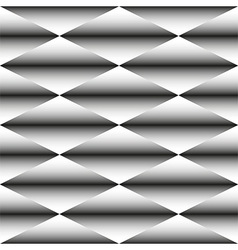 Geometric monochrome seamless pattern of rhombus vector image