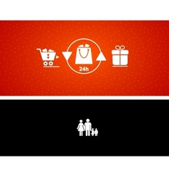 gift buying and presenting vector image vector image
