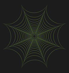 Greenery cobweb vector