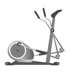 Gym fitness equipment elliptical trainer exercise vector