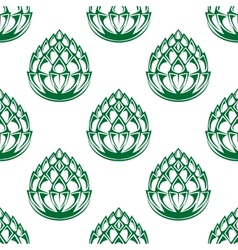 Hop blossoms seamless pattern vector image
