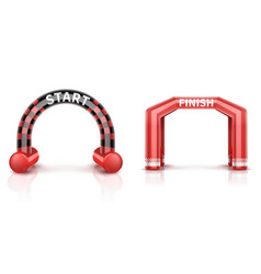 Inflatable race finish and start arch with banner vector