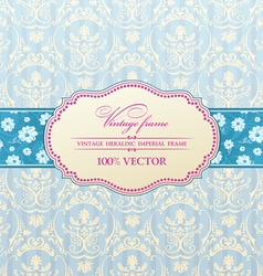 invitation vintage label vector image vector image