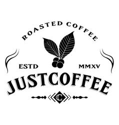 Just Coffee vector image vector image
