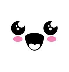 kawaii face icon vector image vector image