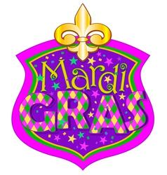 Mardi Gras blazon vector image vector image