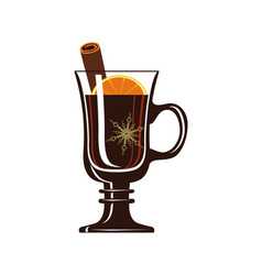 Mulled wine isolated icon vector