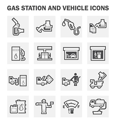 Oil station vector image