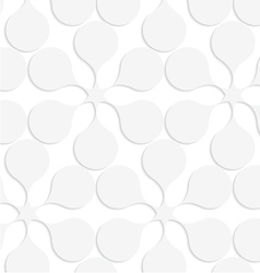 Paper white solid flowers vector
