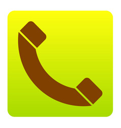 phone sign brown icon at vector image