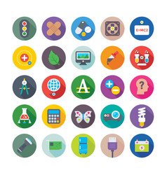 science and technology colored icons 7 vector image vector image