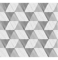 seamless geometric pattern set in retro style vector image