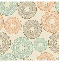 seamless pattern with lacy balls vector image