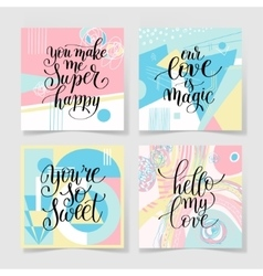 set of lettering quote about love collection to vector image