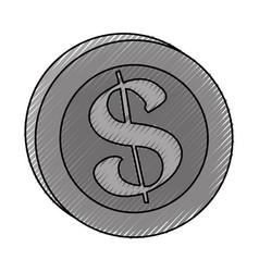 Silver coins money save vector