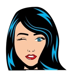 Woman female comic pop art vector
