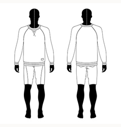Man black silhouette figure vector