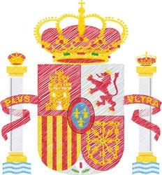 Spanish crest vector