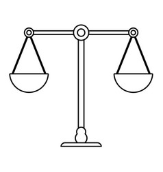 Scale weight balance outline vector
