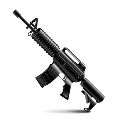 Automatic weapon isolated on white vector