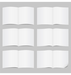 Open pages vector image