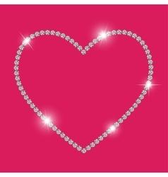 Abstract luxury diamond heart vector