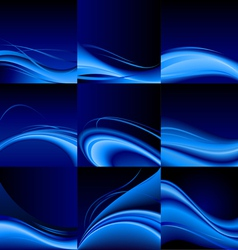 Blue waves vector image vector image