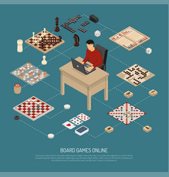 Board games online composition vector