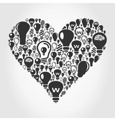 Bulb heart vector image