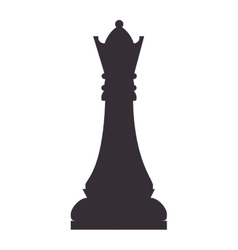 chess piece queen vector image