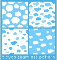 Clouds seamless pattern set vector