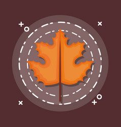 Colorful autum leaves vector