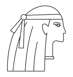 Egyptian style woman icon outline style vector