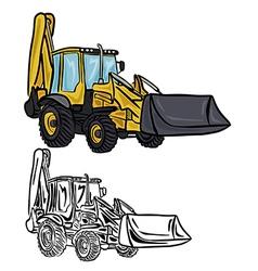 Excavator loader vector
