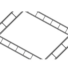 Film strip template card movie theater frame vector image