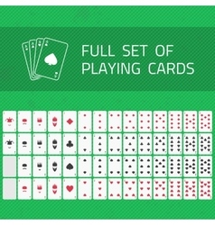 Full set of playing cards vector