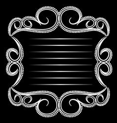 Glamorous Emblem vector image