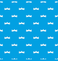 Great wall of china pattern seamless blue vector