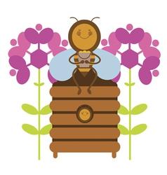 Happy honey bee vector image
