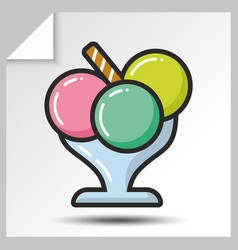 Ice cream icons 5 vector