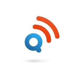 Letter q wireless logo icon design template vector