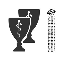 Medical cups icon with professional bonus vector